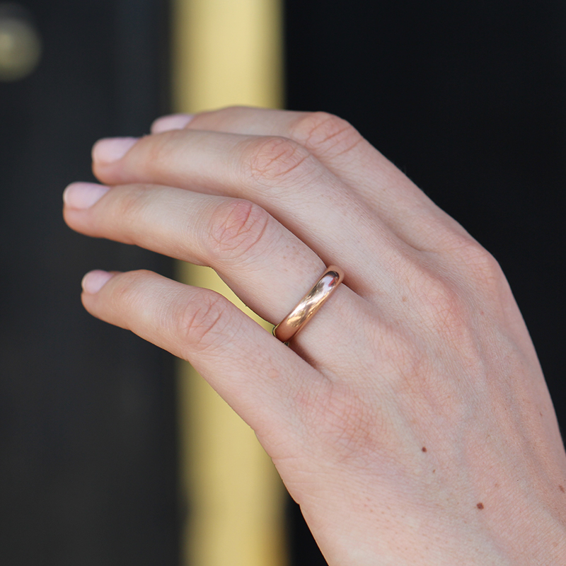 Vintage 9k Rose Gold Wedding Band At Voiage Jewelry