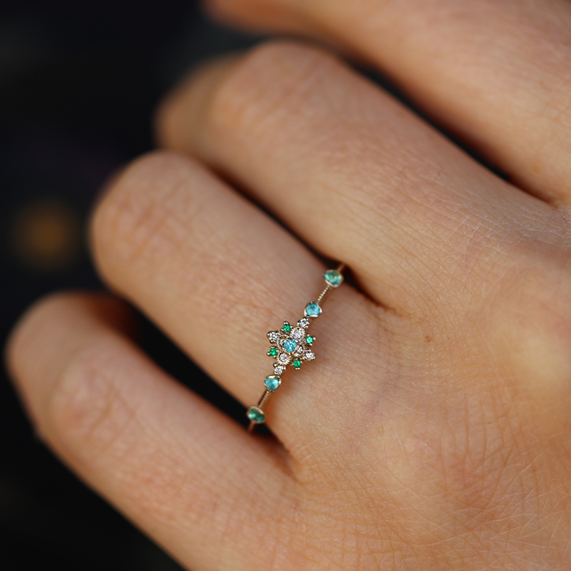 Kataoka Paraiba Tourmaline Diamond And Emerald Orchid