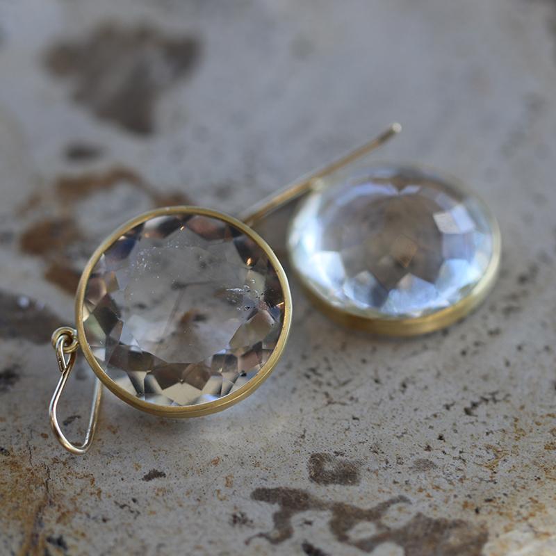 Maria Beaulieu | Herkimer Diamond Gold Earrings at Voiage ...