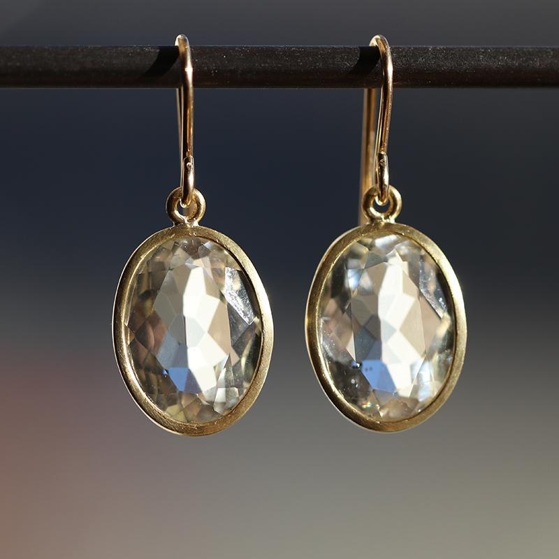 Maria Beaulieu | Oval Faceted Herkimer Diamond Quartz Gold ...