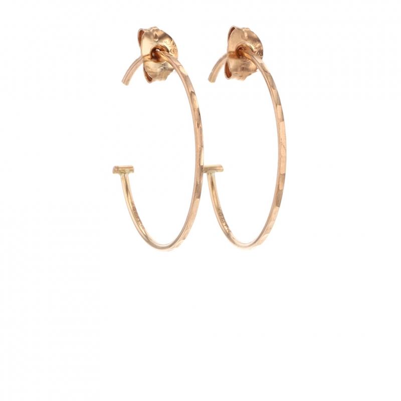 Small Rose Gold Hoop Earrings