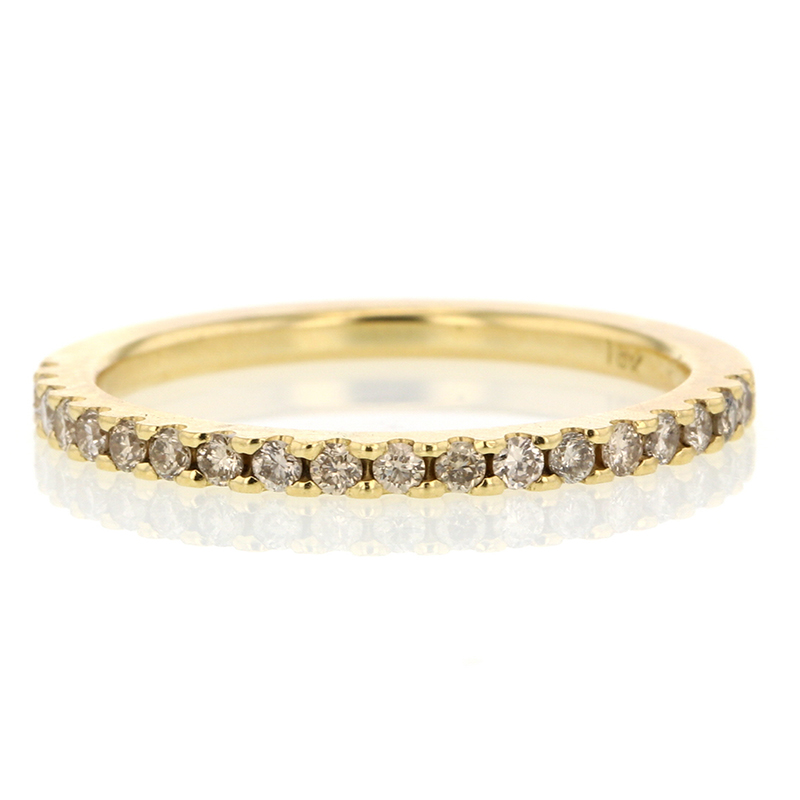 Tura Sugden Champagne Diamond Gold Half Eternity Band at Voiage