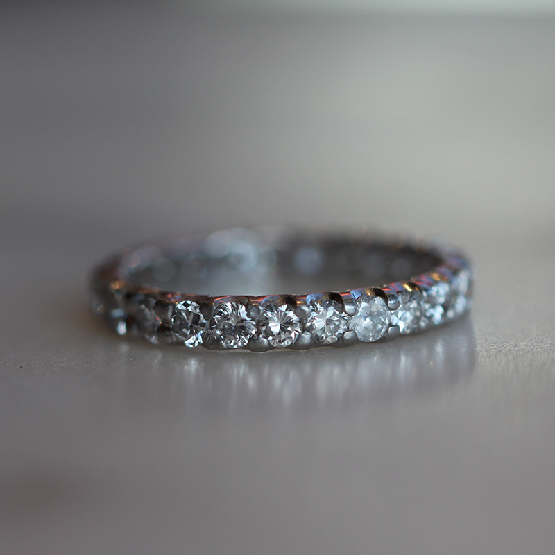 Vintage Diamond Eternity Band 103
