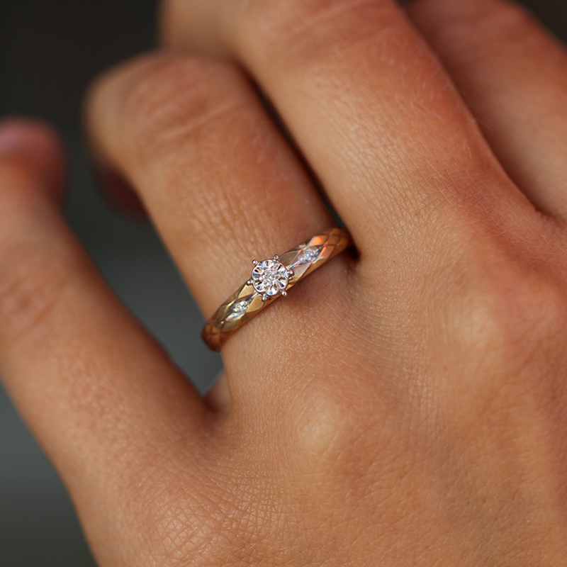 Vintage Diamonds 10k Yellow Gold Ring