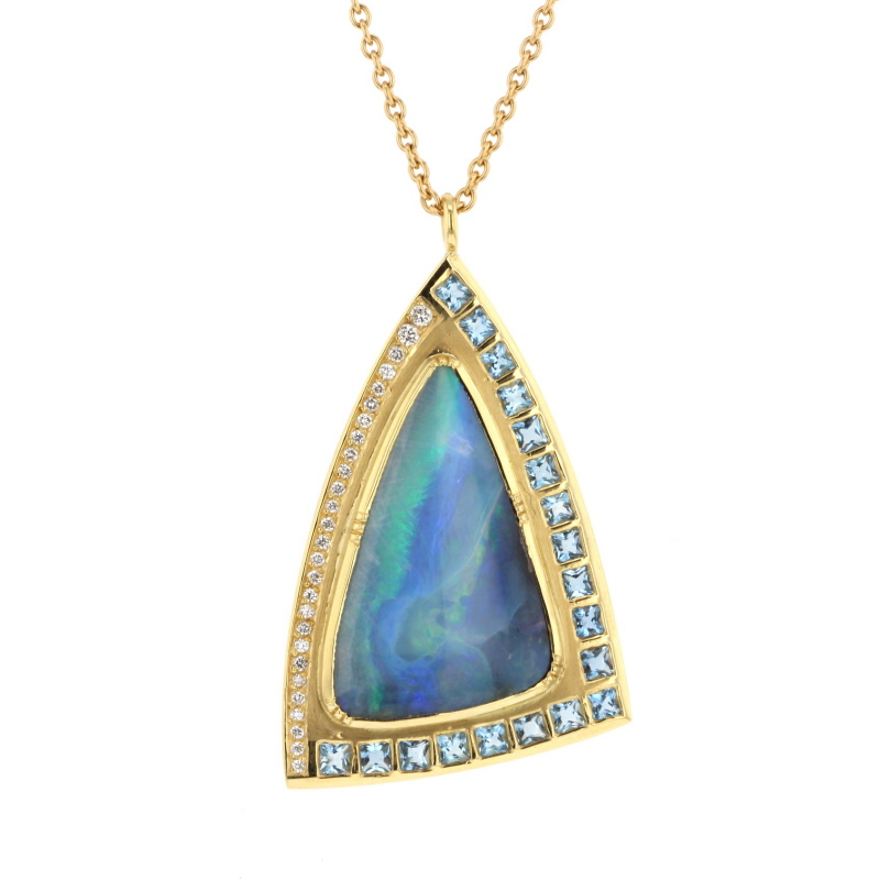 Boulder Opal Nefertiti Necklace