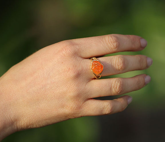 Annette Ferdinandsen Mexican Jelly Fire Opal Ring