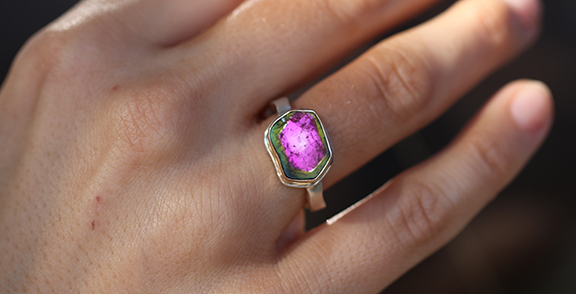 Jamie Joseph Watermelon Tourmaline Ring